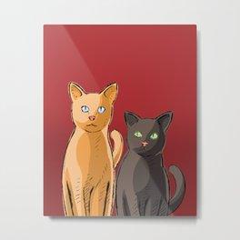 Roommate Cats Metal Print