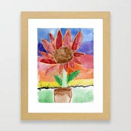 Flower in the Sunset Framed Art Print