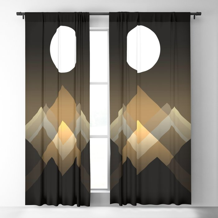 Path between hills Blackout Curtain