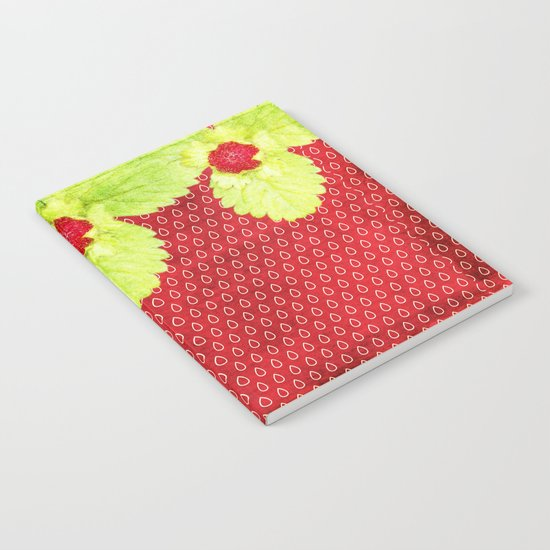 Strawberry LOVE - Strawberries pattern and Illustration Notebook