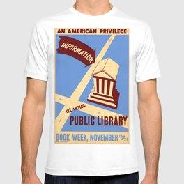 Vintage poster - Book Week T-shirt