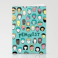 feminist Stationery Cards featuring Feminist by F-ordet