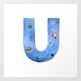 Galaxy Alphabet Series: U Art Print