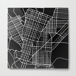 West Philly Map Metal Print