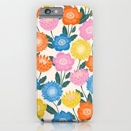 FOLK FLORAL IVORY iPhone Case