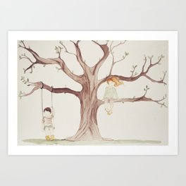 Under the Sycamore Tree Art Print