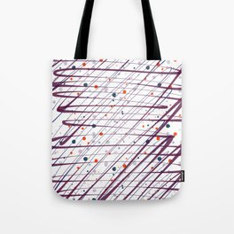 Maroon Splatter Pattern Tote Bag