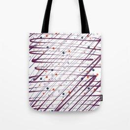 Maroon Splatter Pattern Tote Bag