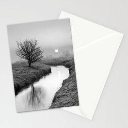 Misty Sunrise On The River Stationery Cards