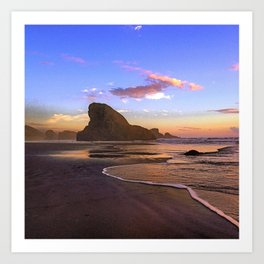 SHARK FIN ROCK Art Print