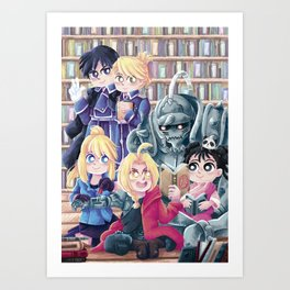 On the library Art Print