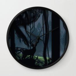 Viking Village in the Forest Wall Clock