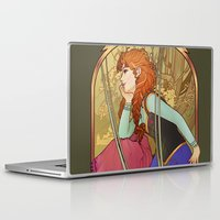 mucha Laptop & iPad Skins featuring For the First Time in Forever by Megan Lara
