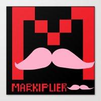 markiplier Canvas Prints featuring Markiplier Logo by pokelayfe