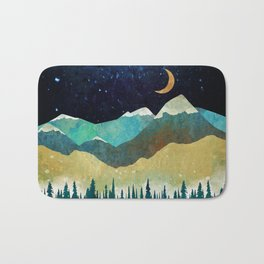 Snowy Night Bath Mat