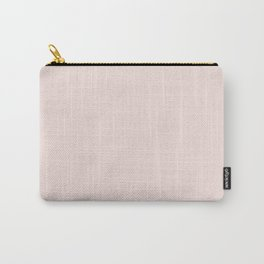 Light Millennial Blush Pink Solid Carry-All Pouch