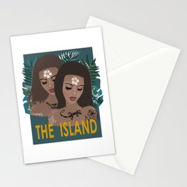 THE ISLAND . with text Stationery Cards