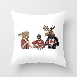 Oh, Hey There Canada Throw Pillow