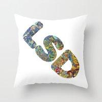 lsd Throw Pillows featuring Simply LSD by Teo Sharkson