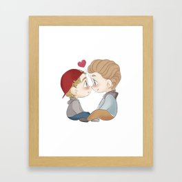 Isak and Even chibi Framed Art Print