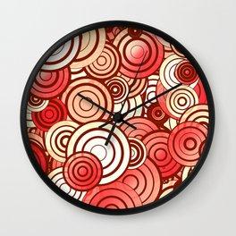 Layered random circles Wall Clock