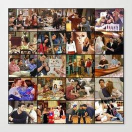 Friends Scene Collage Canvas Print