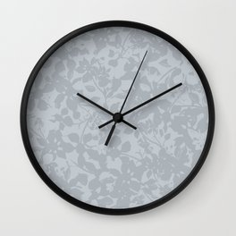 Broken but Flourishing Floral Pattern - Grey Wall Clock
