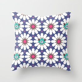 Arabian Nights Tiles Throw Pillow