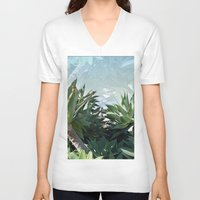 palm V-neck T-shirts featuring Palm by Danny T