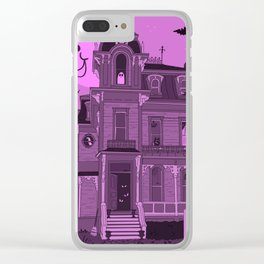 Spooky Roomies Clear iPhone Case
