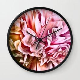 Painted Peony Warm Wall Clock