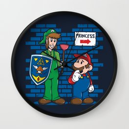Your Princess is in Another Castle Wall Clock