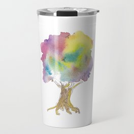 Dreaming tree - watercolor and ink whimsical illustration Travel Mug