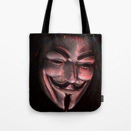 Guy Fawkes Poly Shadow Mask Tote Bag