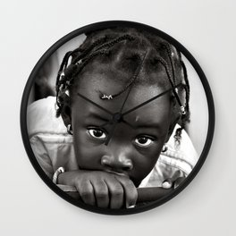 LOOKING INTO MY INNOCENT EYES Wall Clock