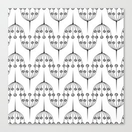 Abstract geometric pattern with floral elements Canvas Print