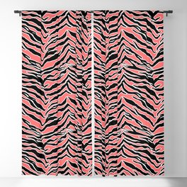 Tiger Print - Coral Blackout Curtain