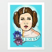 leia Art Prints featuring Leia by Monica Lara Art