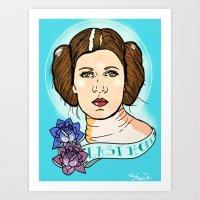leia Art Prints featuring Leia by Monica Lara Art