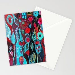 Flowers and owl Stationery Cards