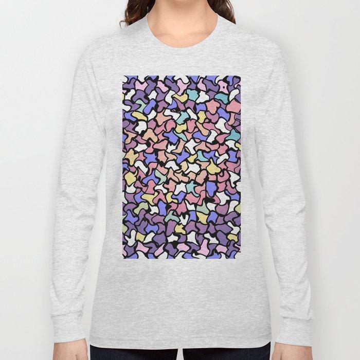 Wobbly Pastel Tone Tiles Long Sleeve T-shirt