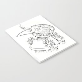Robot Pirate - ink Notebook