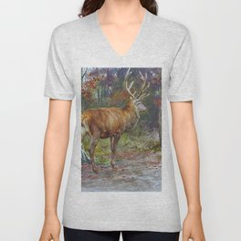Stag On The Watch - Digital Remastered Edition Unisex V-Neck