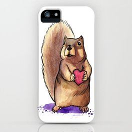 Squirrel Loves You iPhone Case