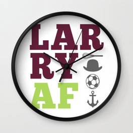 Larry AF - Harry Styles and Louis Tomlinson Wall Clock