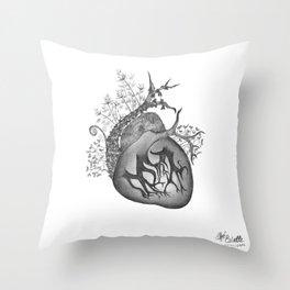 RADIOHEAD HEART Throw Pillow
