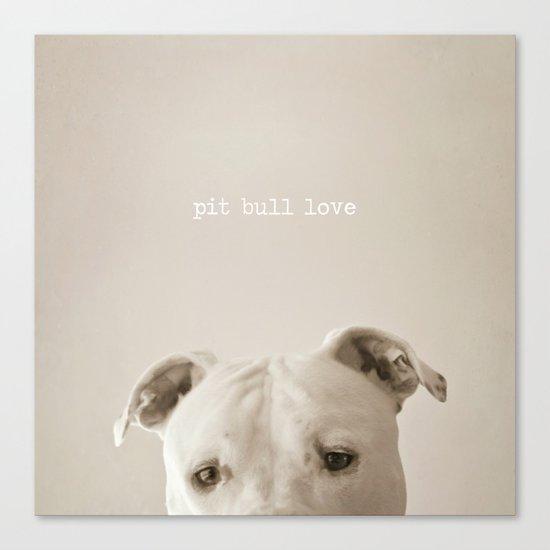 Pit bull love  Canvas Print