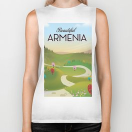 Armenia Travel poster. Biker Tank