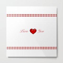 Red Saint Valentine's Day Metal Print