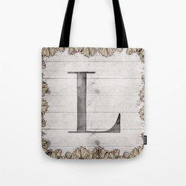 Neutral Monogram L Tote Bag